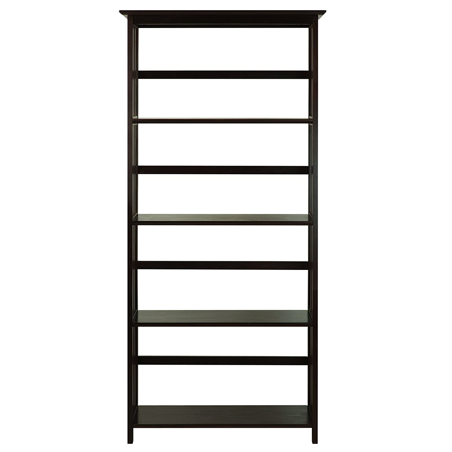 Amazon casual home mission style 5 shelf bookcase espresso amazon casual home mission style 5 shelf bookcase espresso kitchen dining amipublicfo Image collections