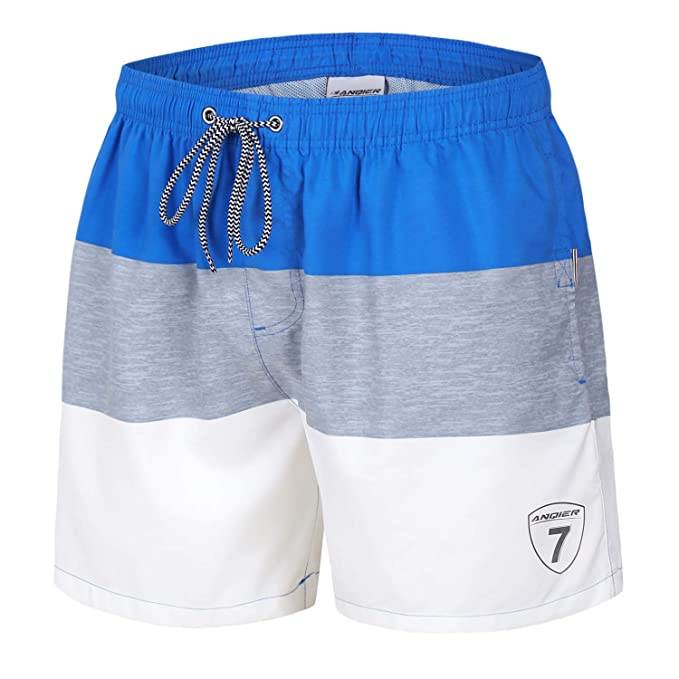 b8cf0894e152c Image Unavailable. Image not available for. Color: anqier Mens Swim Trunks  Quick Dry Swim Shorts with Mesh Lining Swimwear ...