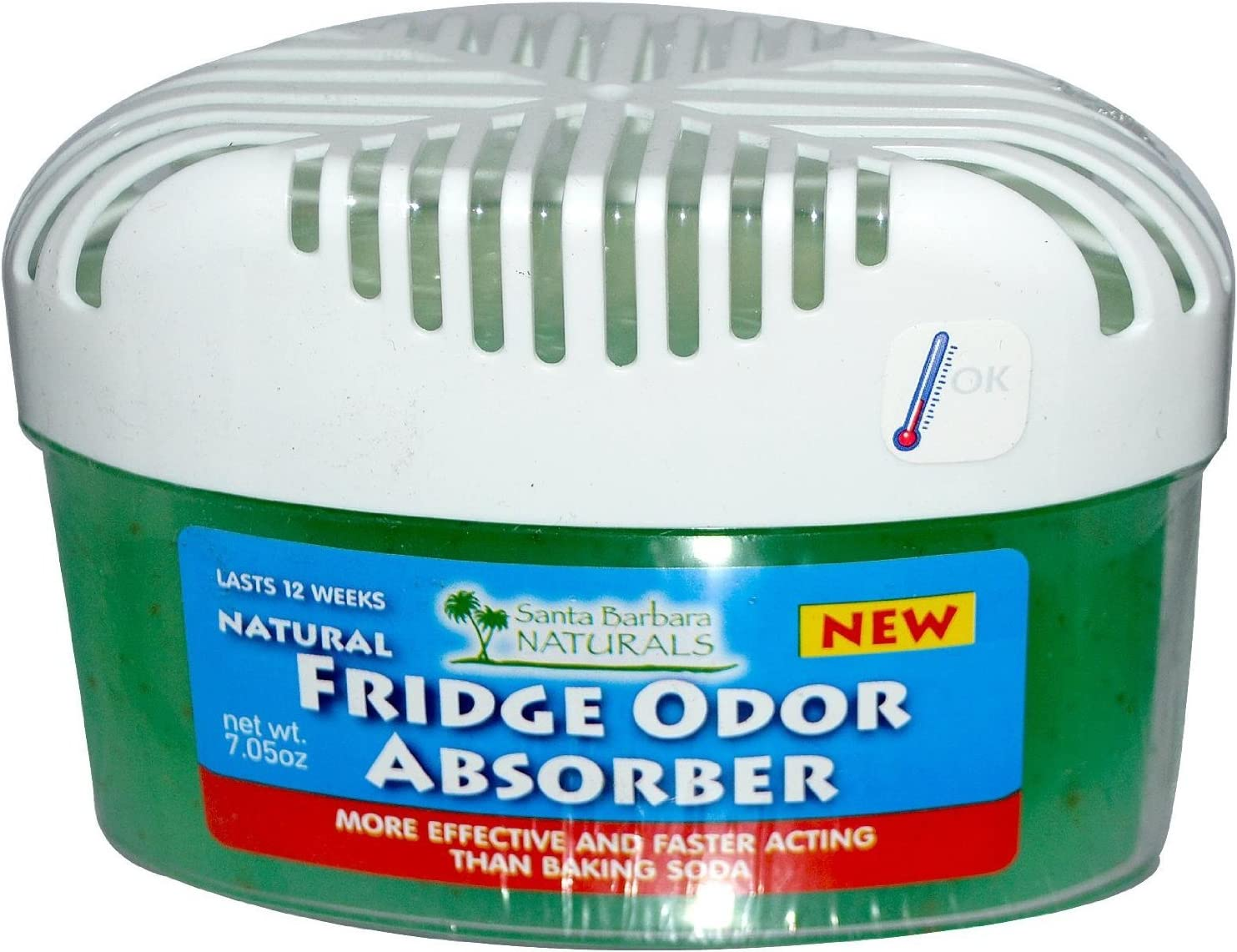 Fridge Odor Absorber: The Premium, Naturally Air Purifying, Absorbent Odor Eliminator and Deodorizer for your Refrigerator. 3X More Powerful and Effective Freshener than Baking Soda (case of 8 units)