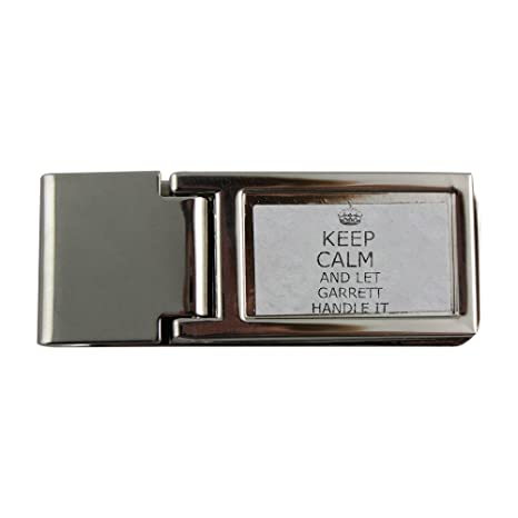 Fotomax Metal Dinero Clip con Mango IT Keep Calm Garrett