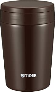 Tiger MCL-A038 TC Vacuum Insulated Thermal Soup Cup, Stainless Steel, Wide Mouth, 12 oz/0.38L, Chocolate Brown