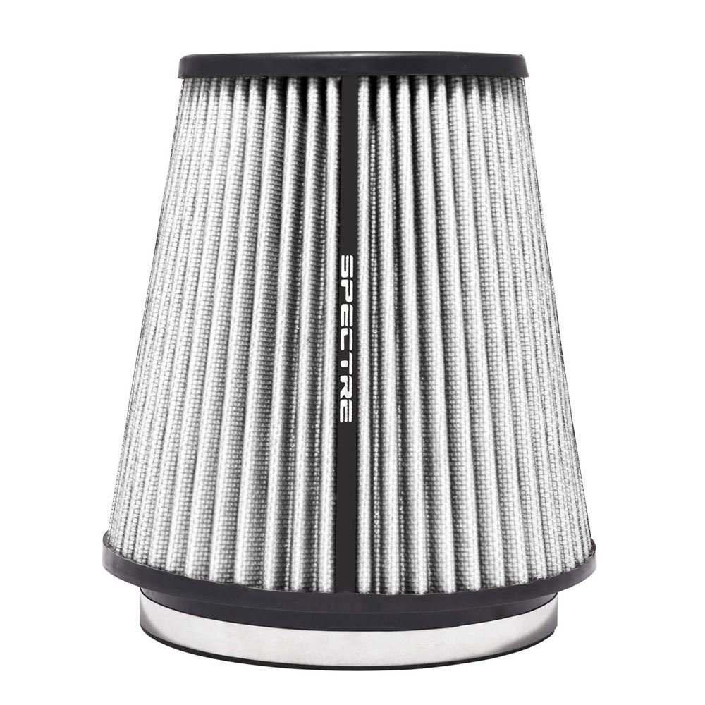 Spectre Performance HPR9891W Universal Clamp-On Air Filter: Round Tapered; 6 in (152 mm) Flange ID; 8.5 in (216 mm) Height; 7.719 in (196 mm) Base; 5.125 in (130 mm) Top SPE-HPR9891W