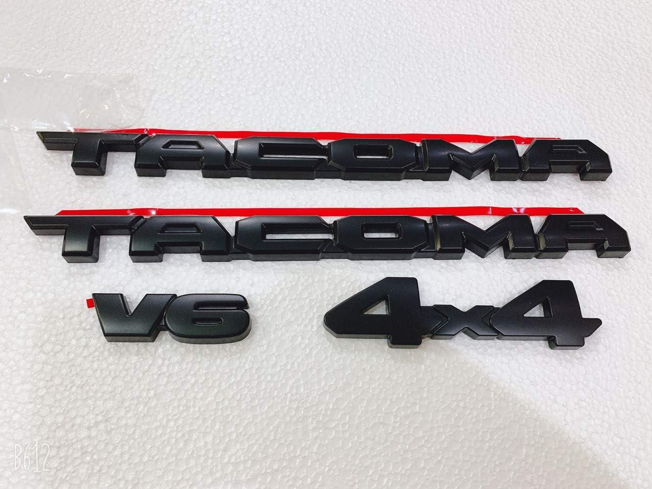 Tacoma 1-4X4 1 V6》 4PCS FOR 2016-2019 Tacoma Blackout Emblem Overlays ABS Plastic OEM PT948-35180-02 《2