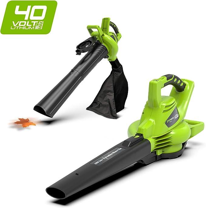 Greenworks Tools aspirador inalámbrico y soplador de hojas 2 en 1 ...