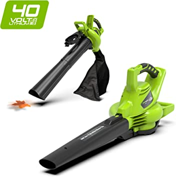 Greenworks Soplador / Aspirador / Triturador de hojas inalámbrico ...
