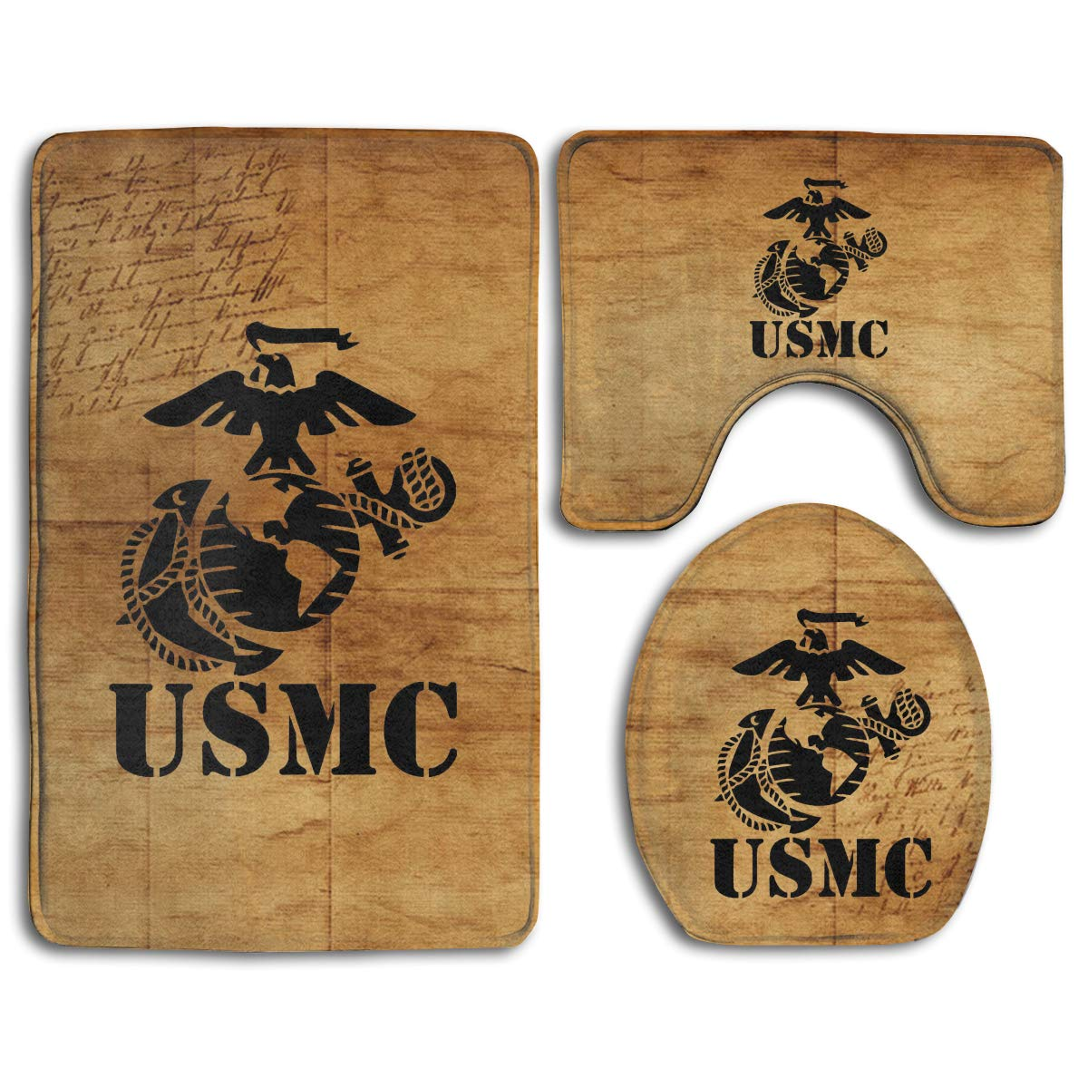 Eagle Globe Anchor USMC Marine Corps Skidproof Toilet Seat Cover Bath Mat Lid Cover by Bralla