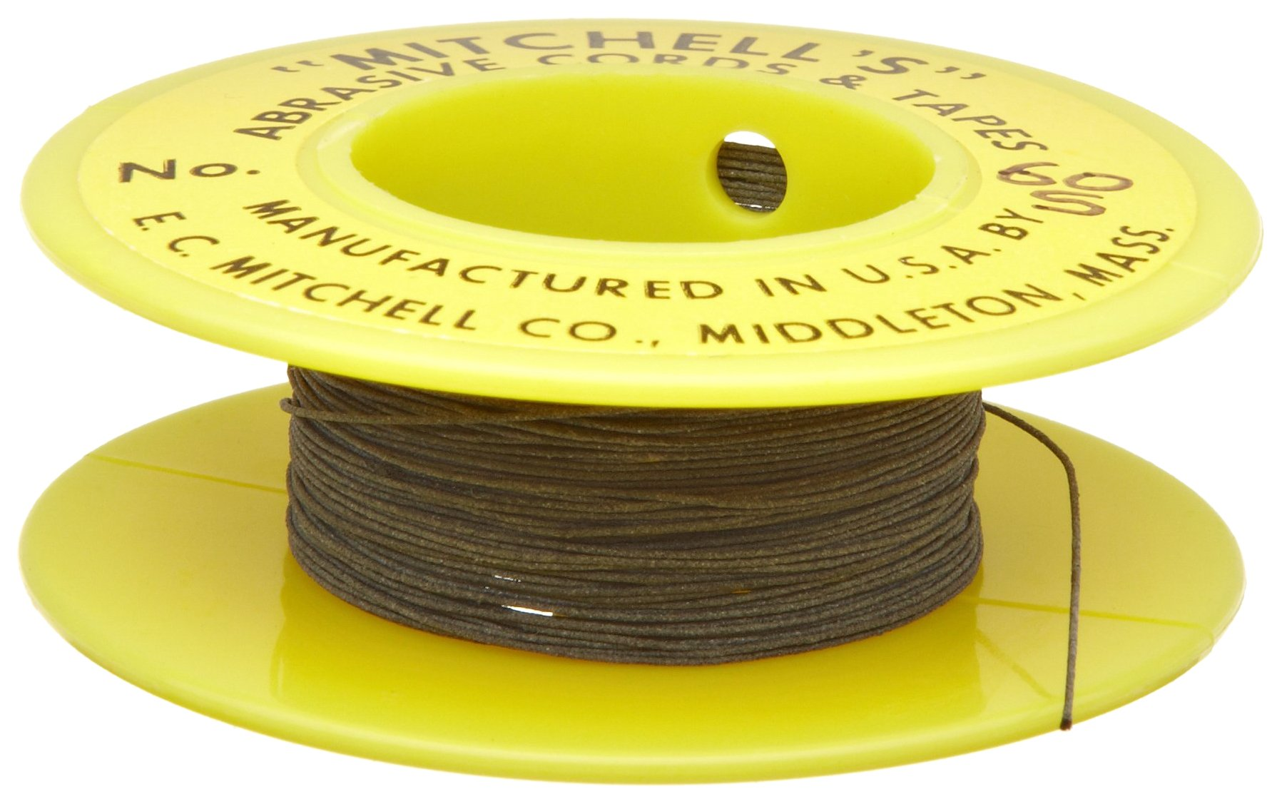 Mitchell Abrasives 60-S Round Abrasive Cord, Silicon Carbide 200 Grit .015'' Diameter x 25 Feet