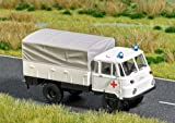Busch 5627 Truck Red Cross with Lights HO Scale