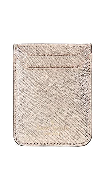 online retailer c9f2d 2cbf6 Kate Spade New York Triple Sticker Pocket, Rose Gold, One Size