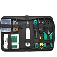 Tykeed 14pcs Portable Ethernet Network Hardware Bag Tool Network LAN Cable Crimper Pliers Tools Kit Network Repairing…