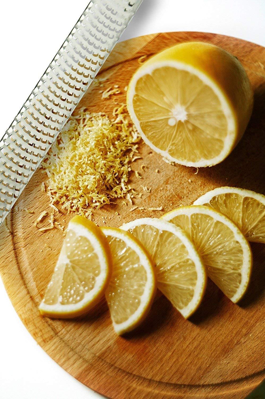 Parmesan Cheese Fruits Lemon Dishwasher Safe Citrus Lemon Zester /& Cheese Grater by AdeptChef Garlic Razor-sharp Stainless Steel Blade Protective Cover Vegetables Ginger