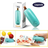 ColorGo Chip Bag Sealer, 2 in 1 Hand Held Mini Portable Heat Sealer for Plastic Bags Food Storage Resealer with Safety Lock [Upgrade Version & Patent Protect]