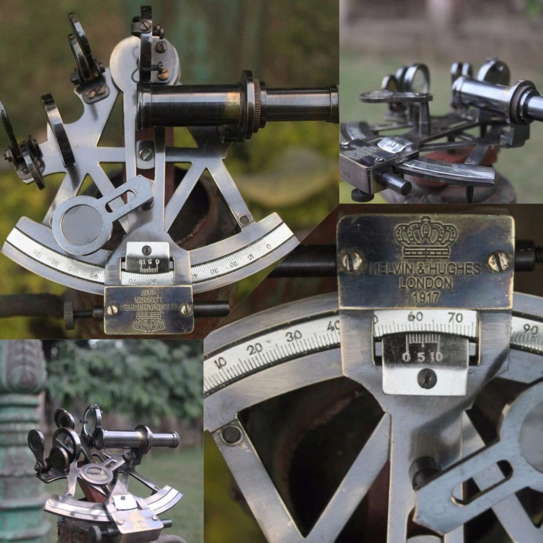 Solid Brass Sextant Vintage Marine Working Navy Sextant Ship Instrument c brass gift store