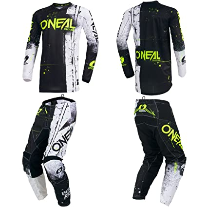 Image Unavailable. Image not available for. Color  O Neal Element Shred  Black Adult motocross MX off-road dirt bike Jersey Pants baf014a71