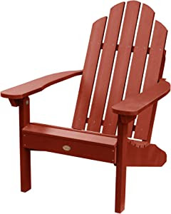 Highwood AD-CLAS1-RED Classic Westport Adirondack Chair, Rustic Red