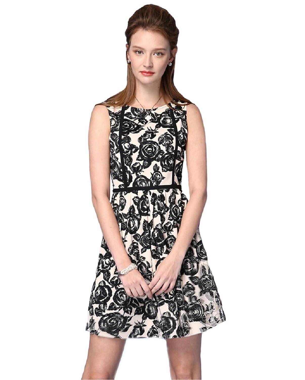 Newland Women's Round Neck Short Sleeve Print Casual Dress US 10