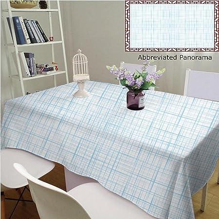 Manteles individuales de algodón y lino, diseño abstracto de flores de color lila con ilustración de