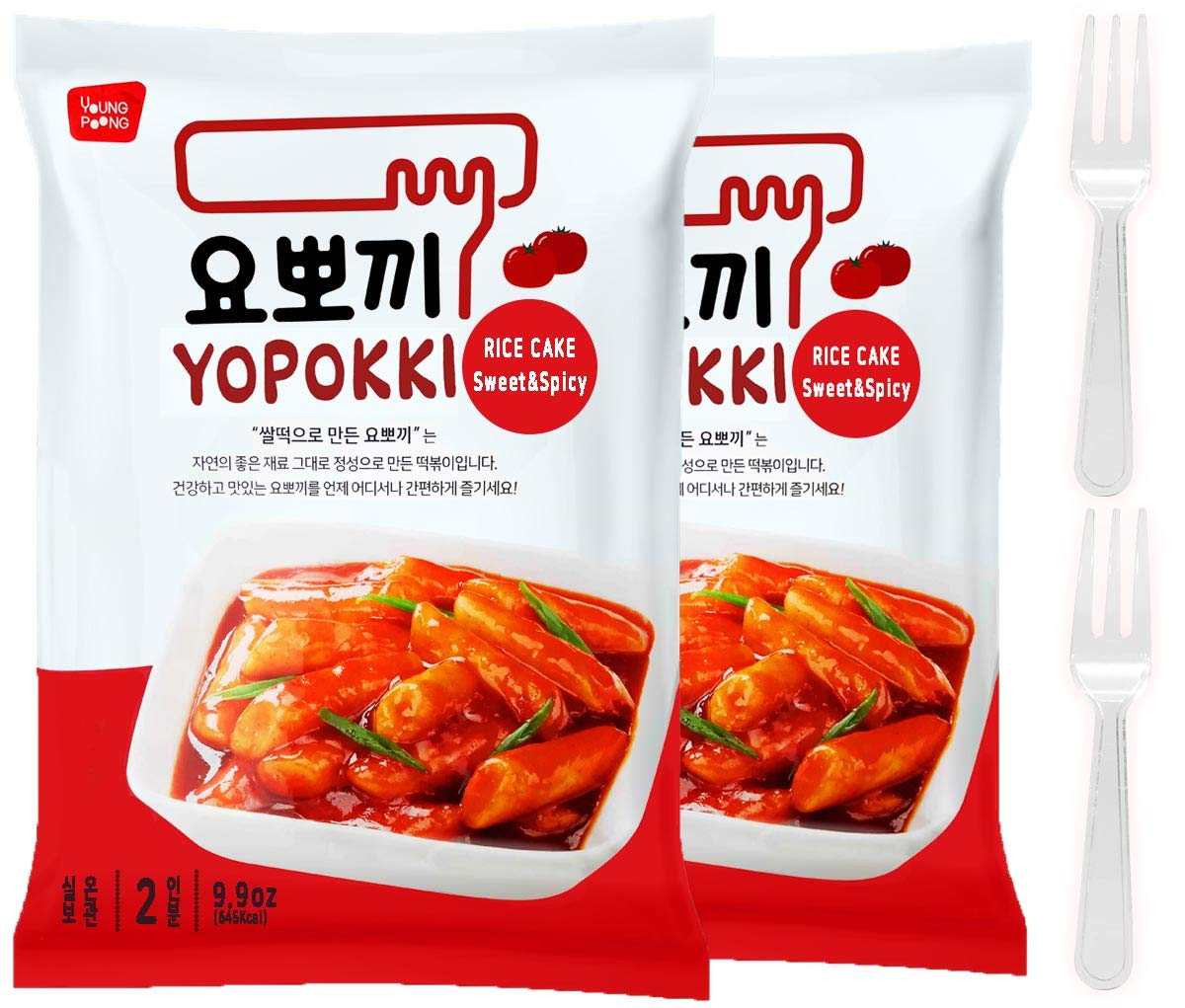 Instant Tteokbokki Rice Cake | Pack Of 2 Popular Korean Snack With A Spicy Sauce (spicy&sweet)
