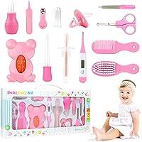 PTN Set Para Cuidado Del Bebé, 13 Piezas Set para Cuidado del Bebé, Bebé Kit de Cuidado Diario, Tijeras Cepillo de Pelo…