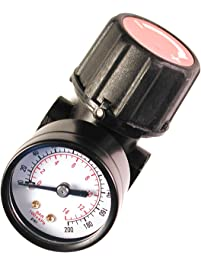 "Primefit CR1401G Replacement Air Regulator with Steel-Protected Gauge, 1/4"" Npt"