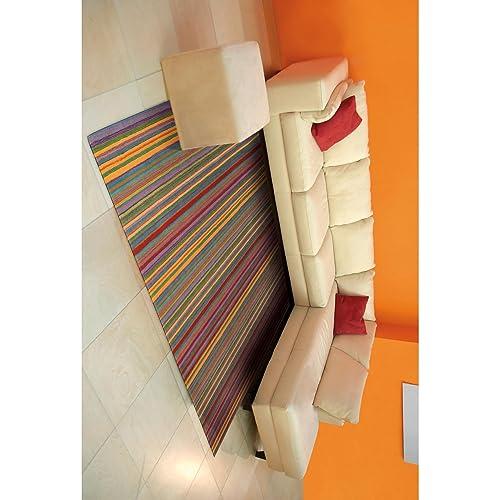 Nourison Skyland Stripe Rectangle Area Rug, 2-Feet 6-Inches by 4-Feet 2 6 x 4