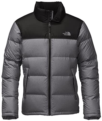 4670d4e7bd The North Face Nuptse Jacket - Men s TNF Medium Grey Heather TNF Black Large