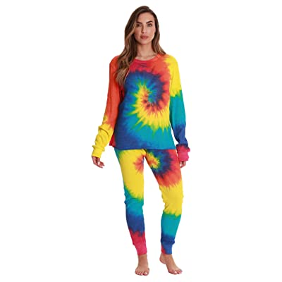 Just Love Women's Tie Dye Two Piece Thermal Underwear Set 6770-10364-XXL at Women's Clothing store