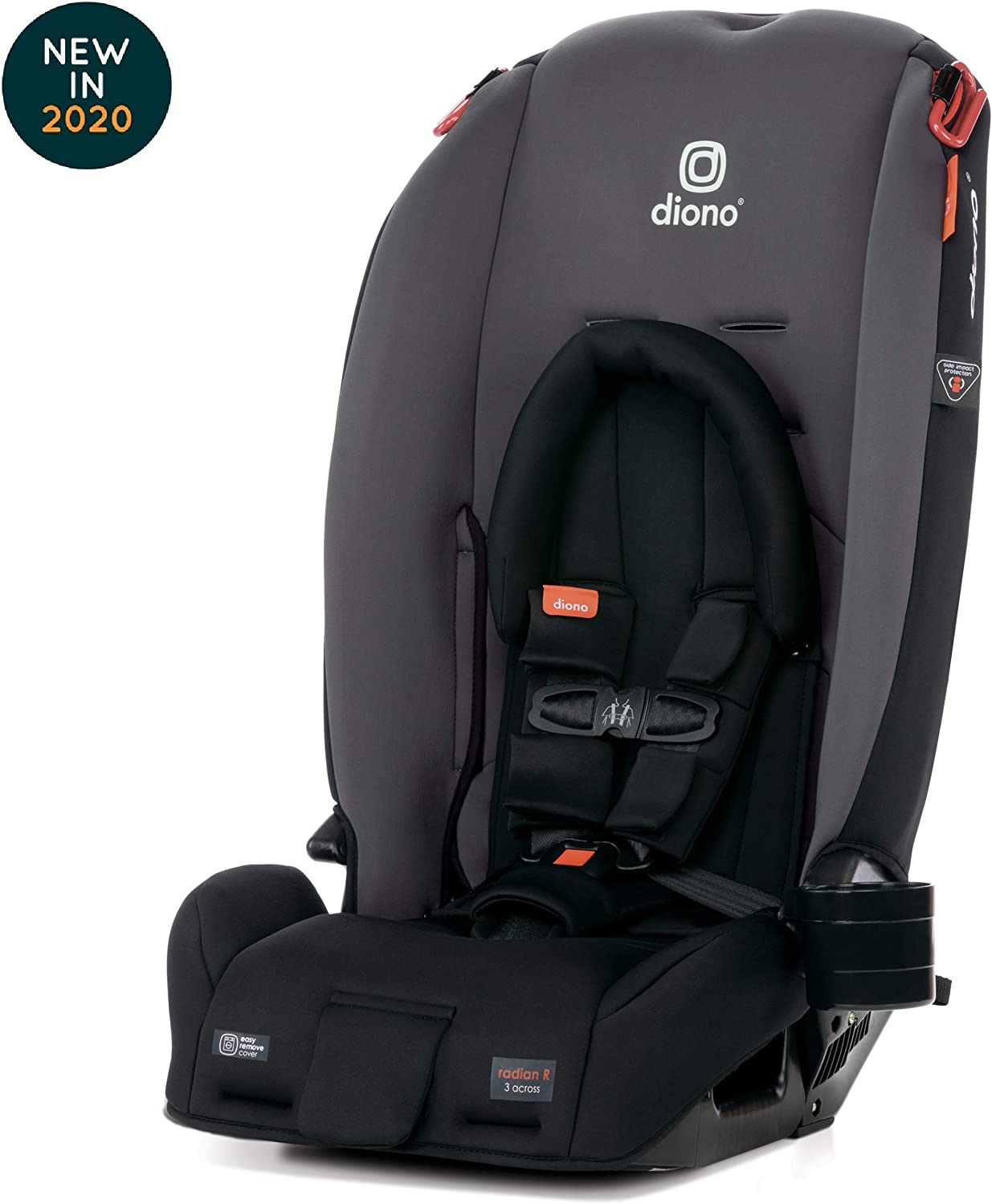 Black Jet Diono Radian 3RX Latch All-in-One Convertible Car Seat