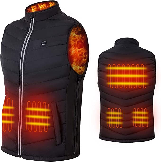 BUNRUN Heated Vest,Portable Charger for Heating Clothing 10000mAh Power Bank Large Capacity External Battery Pack