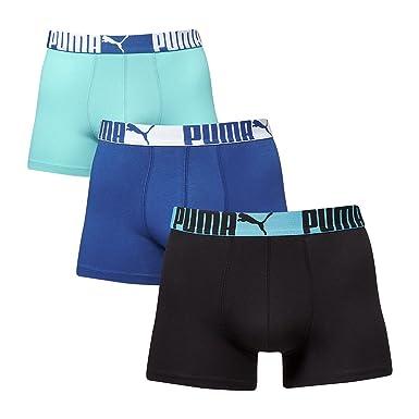 8399cbb8e3 Puma Cat Boxer - Ropa Interior Deportiva para Hombre, Color Azul, Talla XL:  Amazon.es: Ropa y accesorios