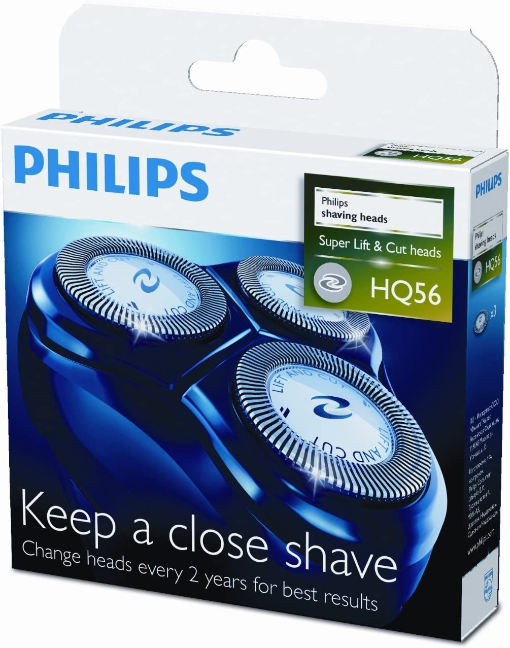 Philips shaving heads HQ56 Lift & Cut 3 heads: Amazon.es: Electrónica