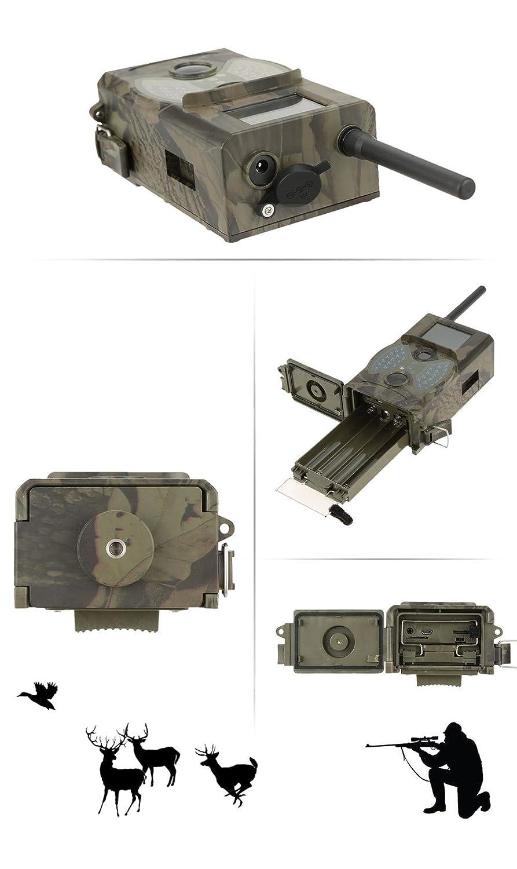 Lixada GPRS / MMS / SMS Digital Infrarrojo Cámara de la caza de exploración del rastro de Vigilancia de la cámara 940NM LED IR HC300M: Amazon.es: Bricolaje ...