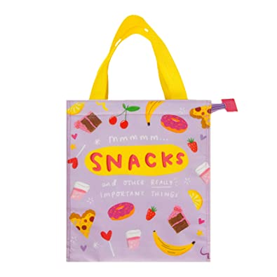 The Happy News Tote Snack Bag - Mmm Snacks  Amazon.co.uk  Shoes   Bags 41c59d6e6