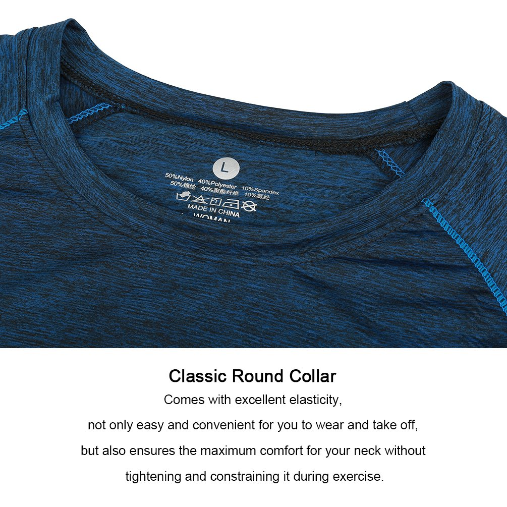 Fitibest Donna T-Shirt a Maniche Corte per Yoga Running Fitness