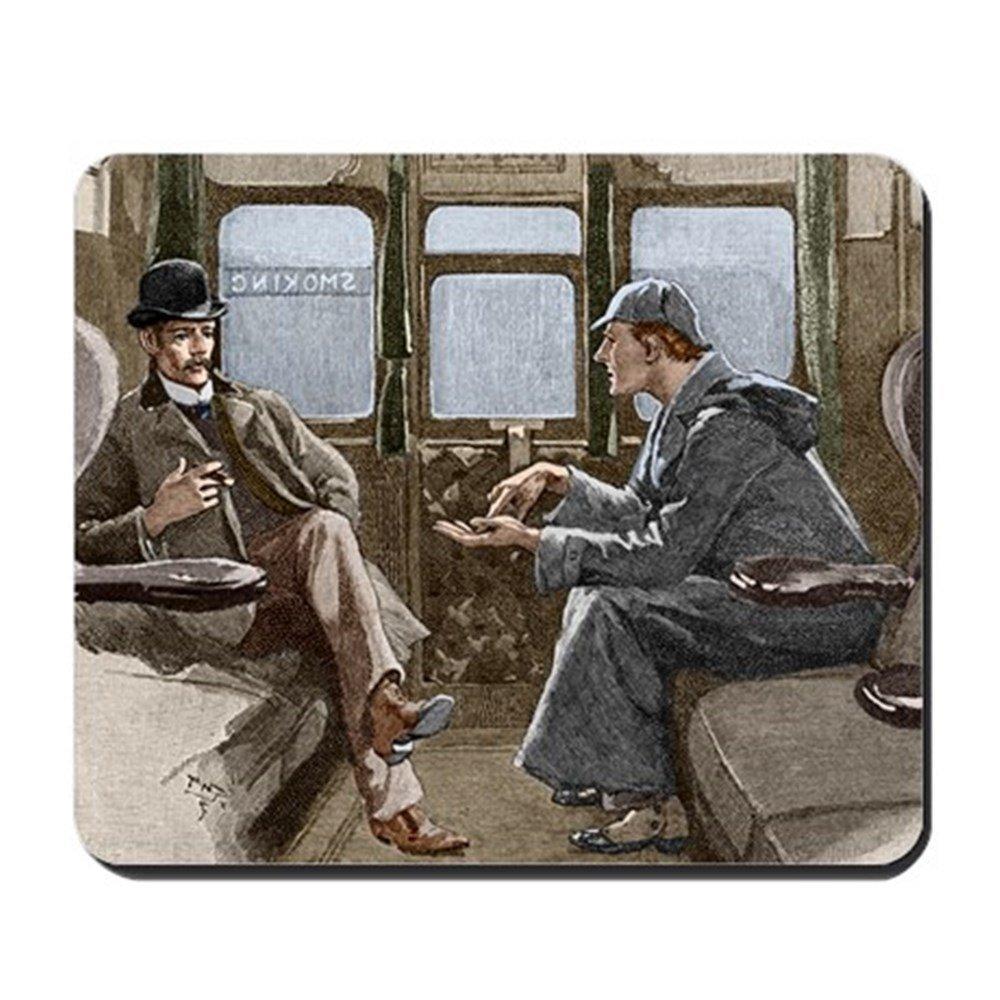 CafePress - Sherlock Holmes And Dr  Watson - Non-slip Rubber
