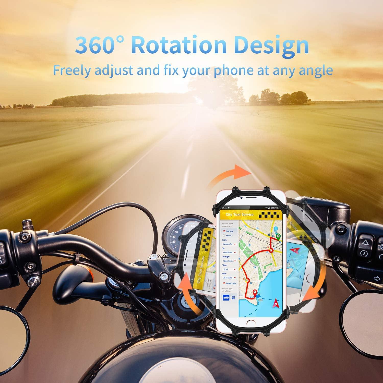 Soporte Movil Bici Rotaci/ón 360/° Ajustable Soporte Movil Moto para Bici de Monta/ña Motocicleta HOTERB Soporte Movil Bicicleta Soporte Movil Bicleta para 4.5-7 Smartphones