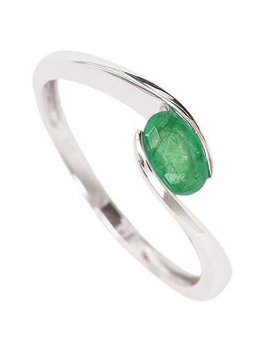 Beliebt Bevorzugt MyGold Smaragd Ring Weißgold Weissgold 585 Gold (14 Karat) Glanz #BN_55