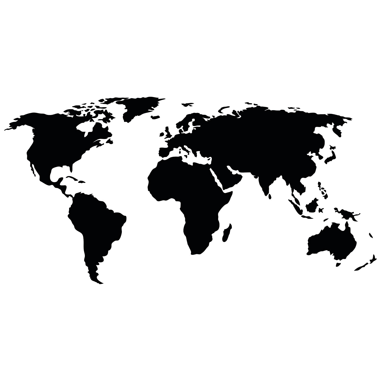 Bilderwelten Tatuaje de Pared Mapa del Mundo II, Adhesivo para ...
