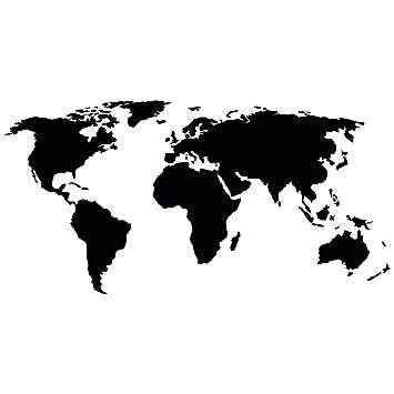 Bilderwelten Wandtattoo Weltkarte Farbe Gold Grosse 70cm X 140cm