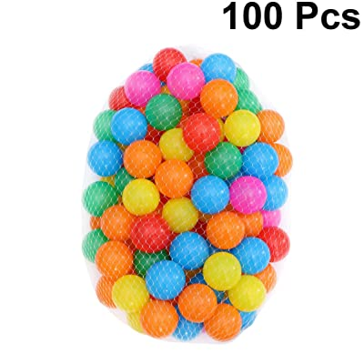 Tomaibaby 100pcs Colorful Ocean Balls, 2.1 inch Soft Plastic Kids Play Ball Swim Pit Toy for Kids Party or Playing: Toys & Games