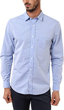 Closed - Camisa formal - para hombre azul celeste S: Amazon ...