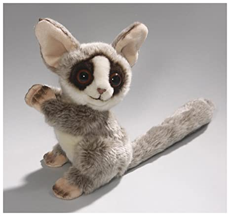 Carl Dick Bush Baby Galagos, 7 inches, 18cm, Plush Toy, Soft Toy