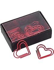 Clips de papel con forma de corazón para marcar documentos y organizar papelería, marcador de