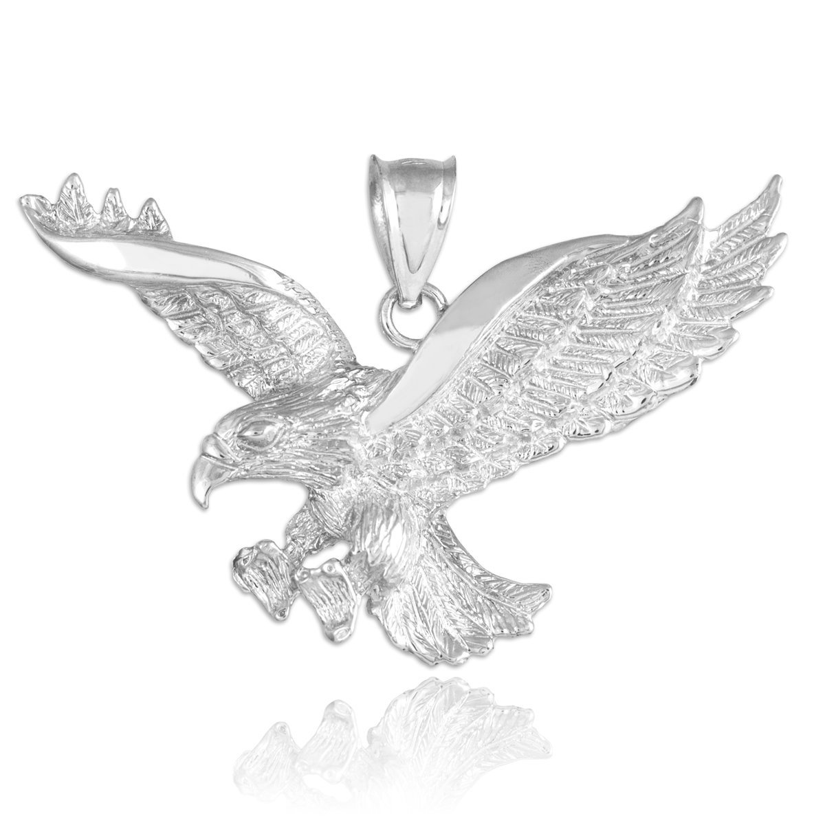 Amazon Animal Kingdom 925 Sterling Silver Flying Eagle Pendant