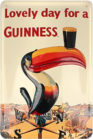 GUINNESS EMBOSSED  WALL HANGING TIN SIGN  NEW 006