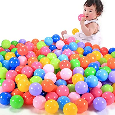 Seaskyer 50 Pcs Multicolor Baby Kid's Toy Ball Round Soft Plastic Ocean Ball 5.5CM, Birthday Parties Events Playground Games Pool Gifts: Industrial & Scientific