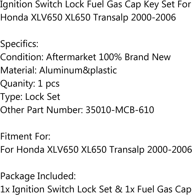 Startschalter Z/ündung Z/ündschalter mit Tankdeckel Schl/üssel Ignition Switch Lock f/ür HON-DA XLV650 XL650 Transalp 2000-2006 Artudatech Z/ündschloss Motorrad