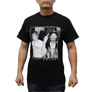 67108a3ed Custom Funny Mens T Shirt Tupac Biggie Trust Nobody Men s T-Shirt Black  Short Sleeve Summer Men s T-Shirts  Amazon.es  Ropa y accesorios