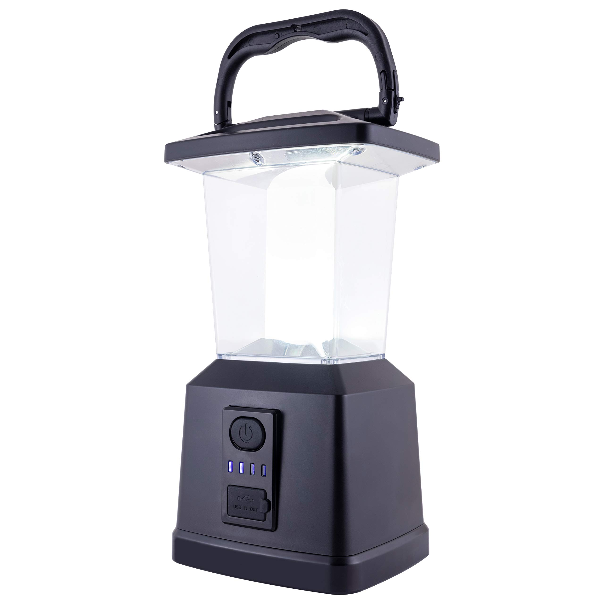 Enbrighten LED Rechargeable Lantern, USB Power Bank, 650 Lumen, Dimmable, Ideal for Outdoor, Patio, Camping, Hurricane, Storm, Tornado & Emergency, 43934 by Enbrighten
