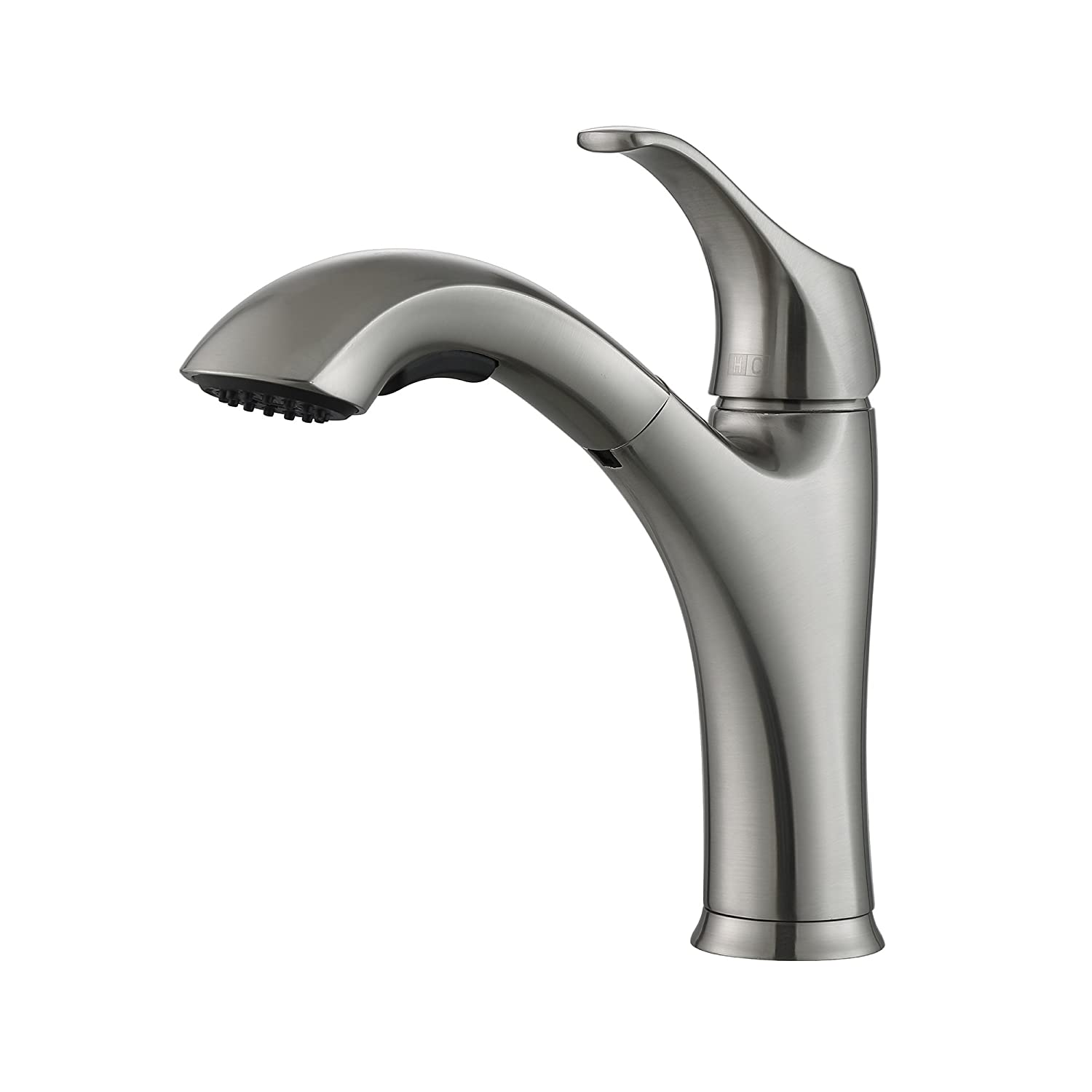 kitchen bn nickel handle faucet brushed main single